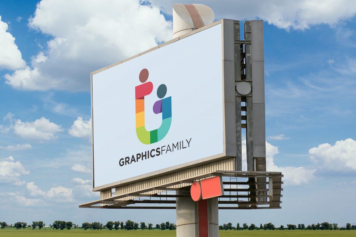 Big Outdoor Billboard Mockup