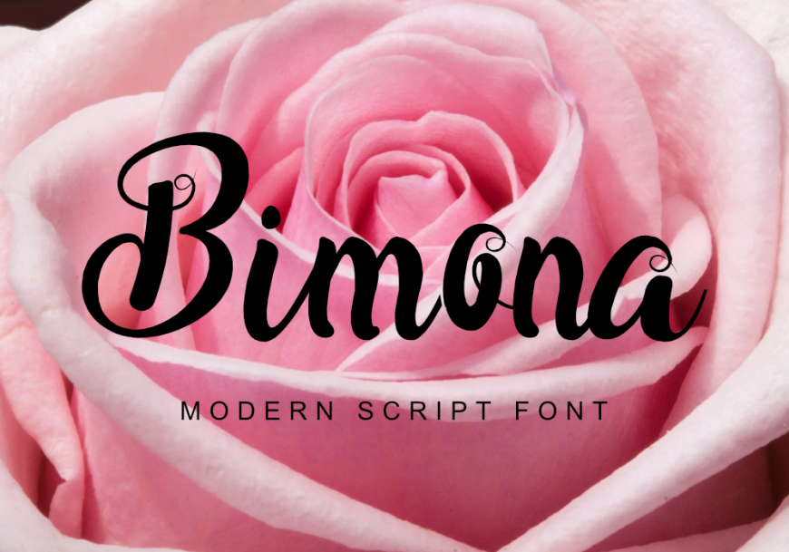 Bimona Font by GraphicsFamily