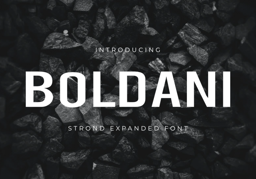 Boldani Font by GraphicsFamily