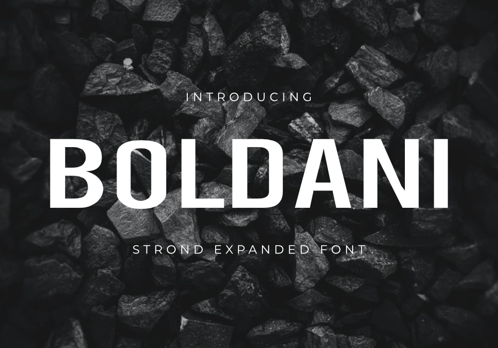 Boldani Font by GraphicsFamily
