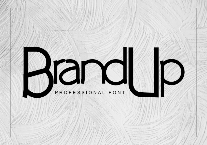 BrandUp Font by GraphicsFamily
