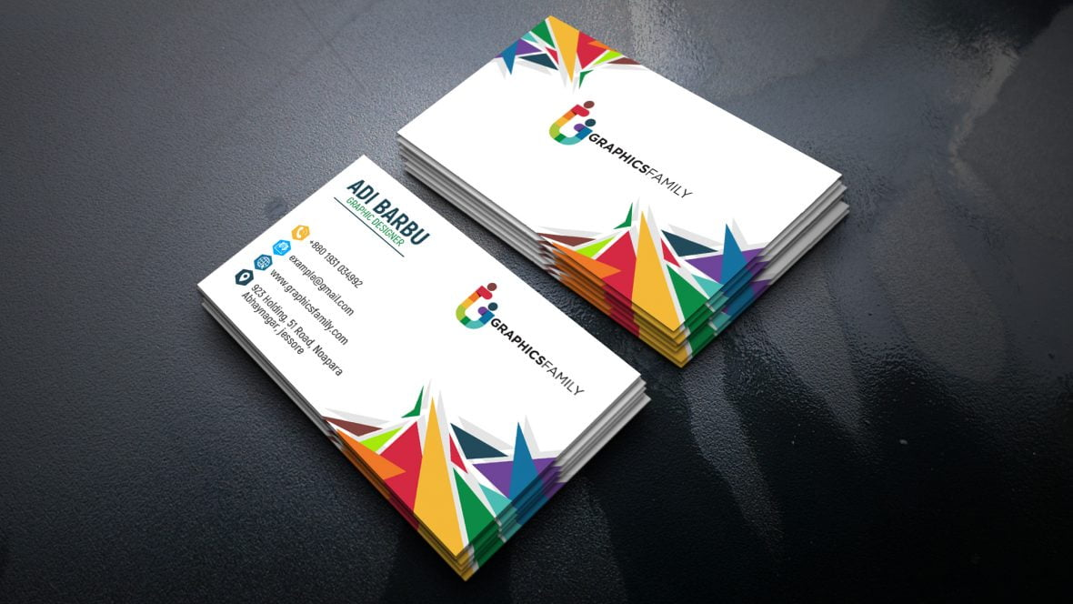 Colorful Simple Business Card Design
