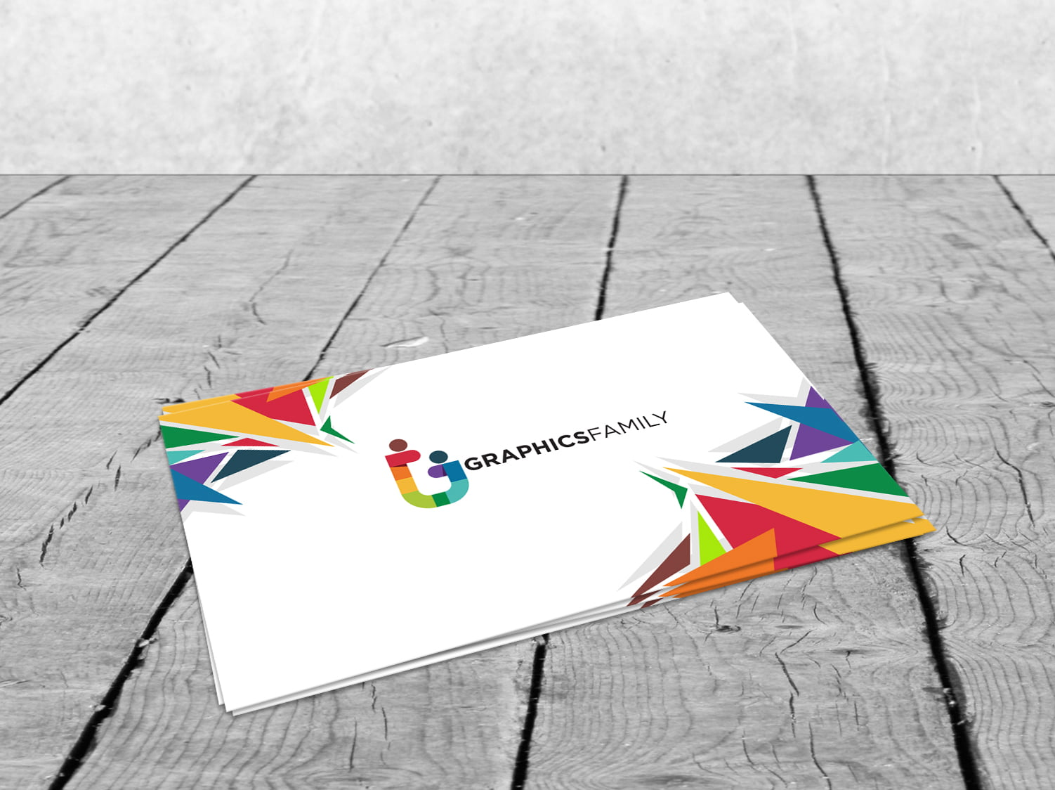 Colorful Simple Business Card Design Free PSD