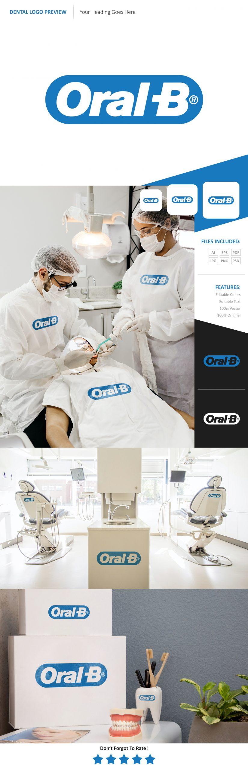 Dental Logo Preview Mockup