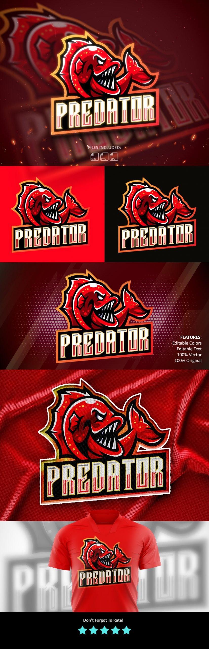 Predator Mascot Logo Template