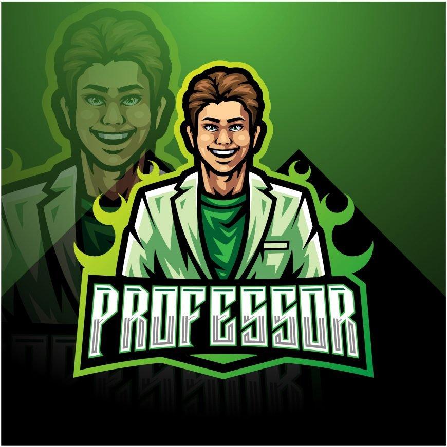 El Professor Mascot Logo Template