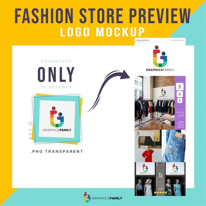 Fashion Store Logo Preview Mockup