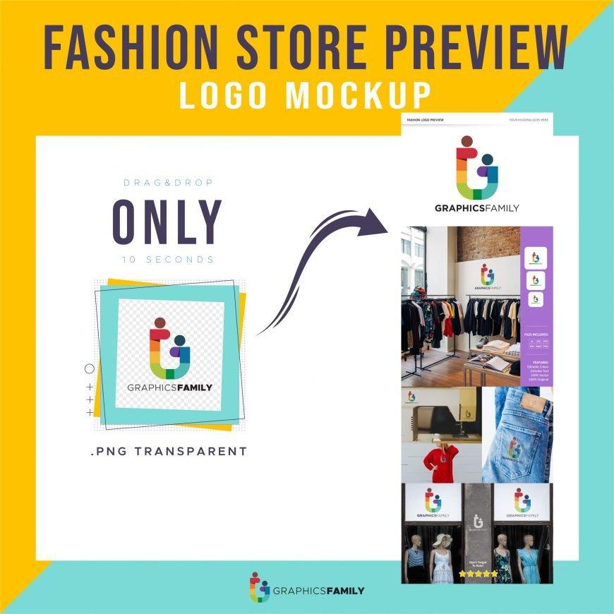 Fashion Store Logo Preview Mockup