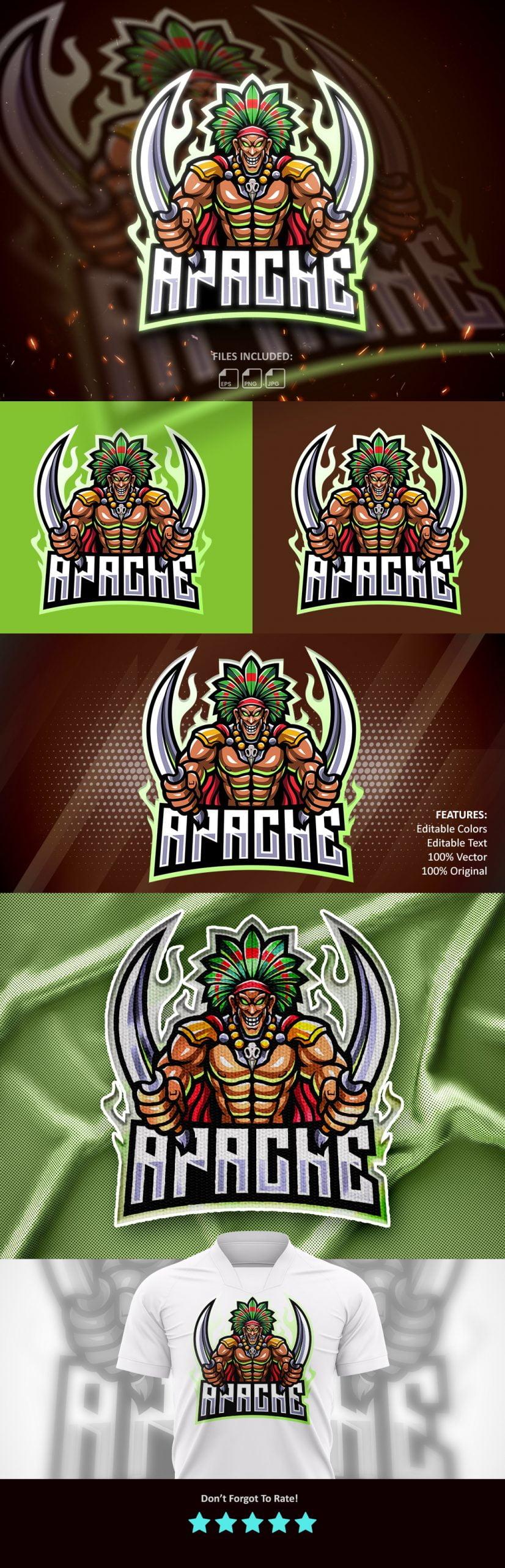 Free-Apache-Mascot-Logo-Download