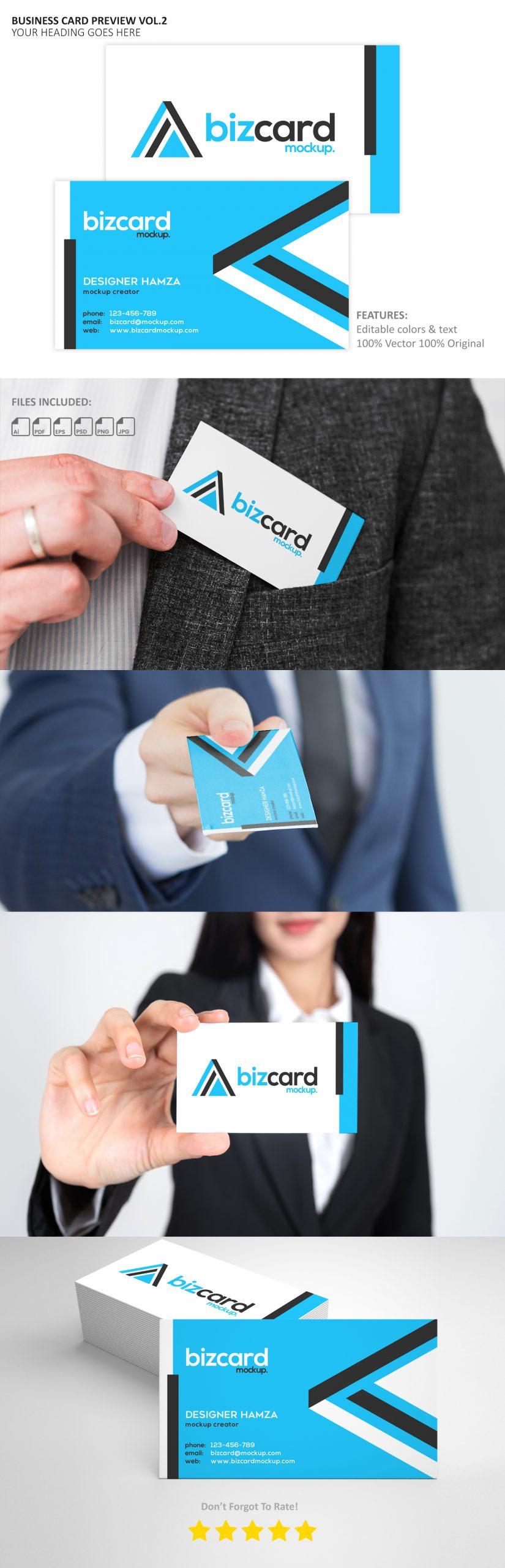 Free Business Card Mockup Generator Download