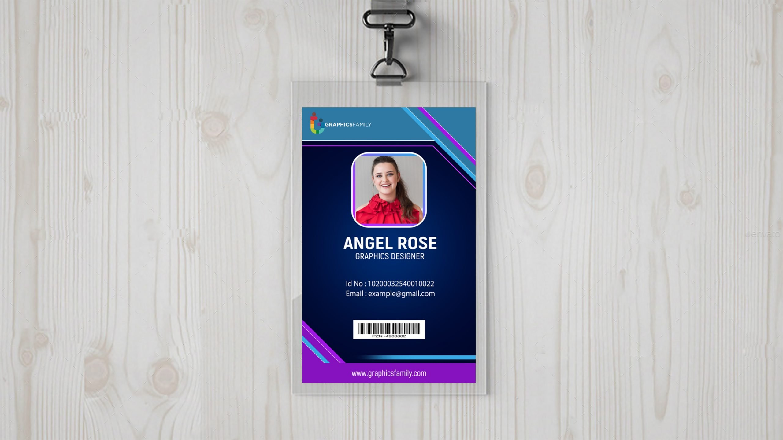 Free Business id card template with photo