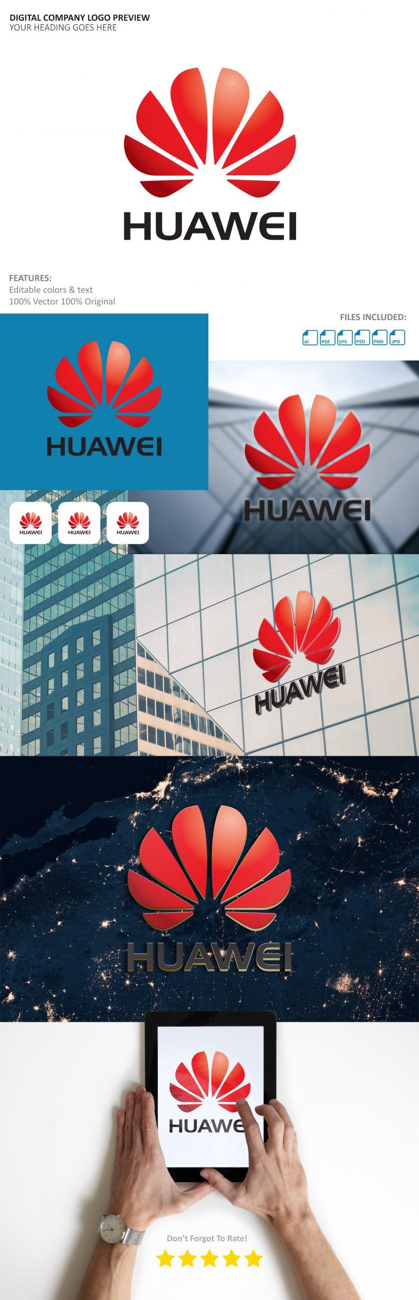 Free Digital Company Logo Preview Mockup