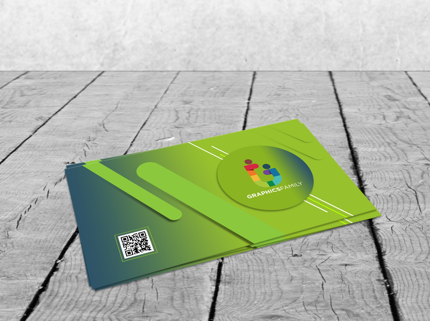 Free Download Simple Green Business Card Design