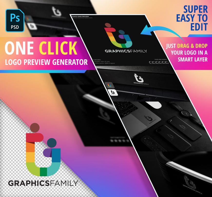 Free Elegant Black Logo Preview Generator Download