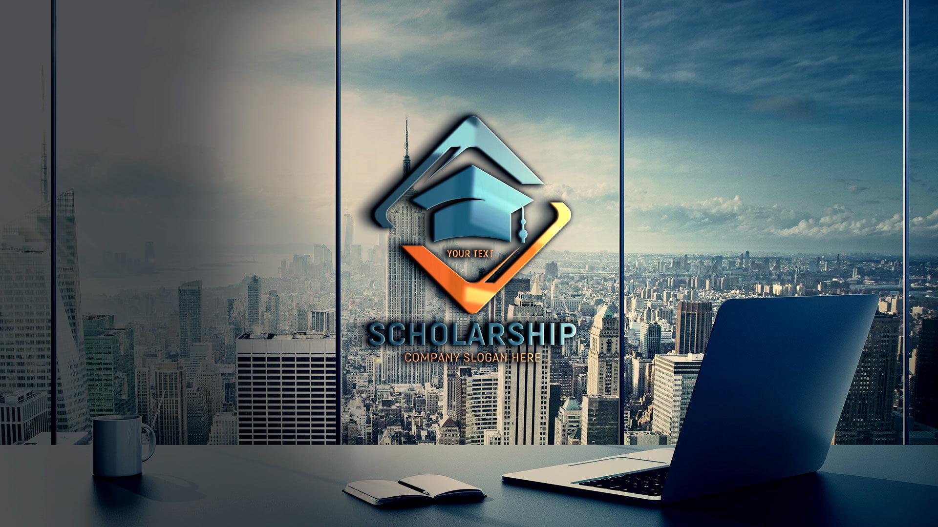 Free Free Scholarship Logo Template