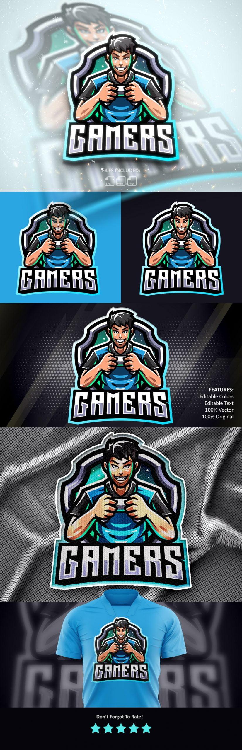 Free-Gamers-Mascot-Logo-Download