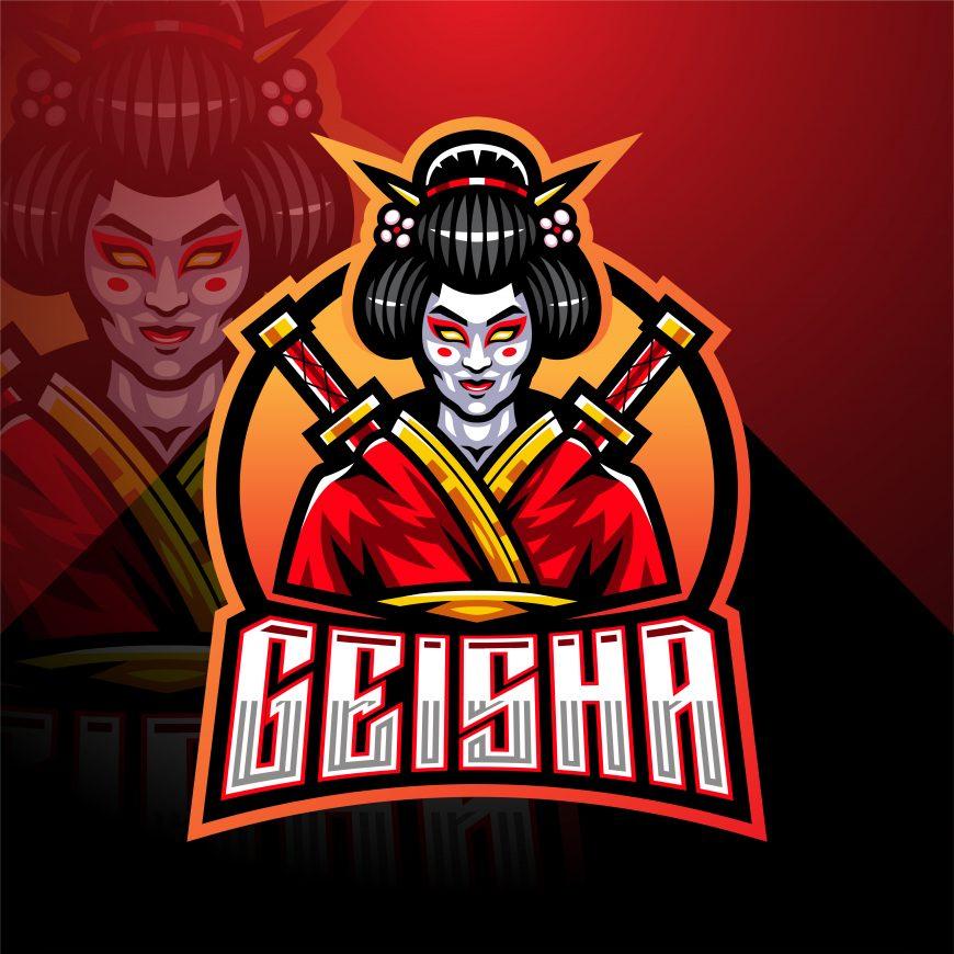 Free Geisha Mascot Logo Template