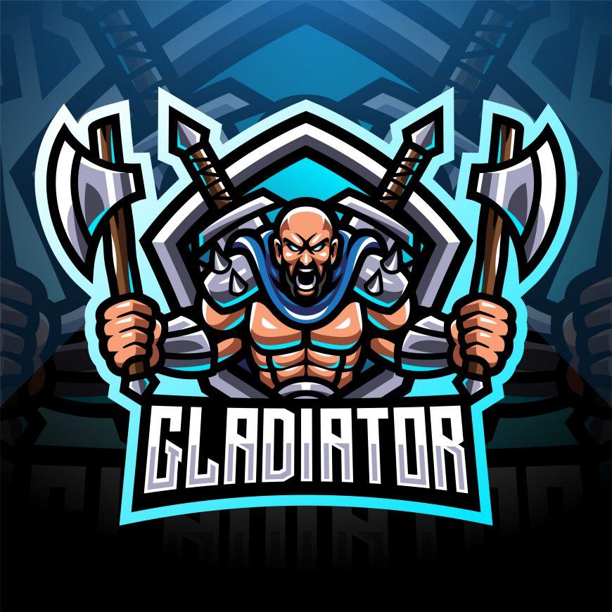 Free Gladiator Fighter Esports Mascot Template