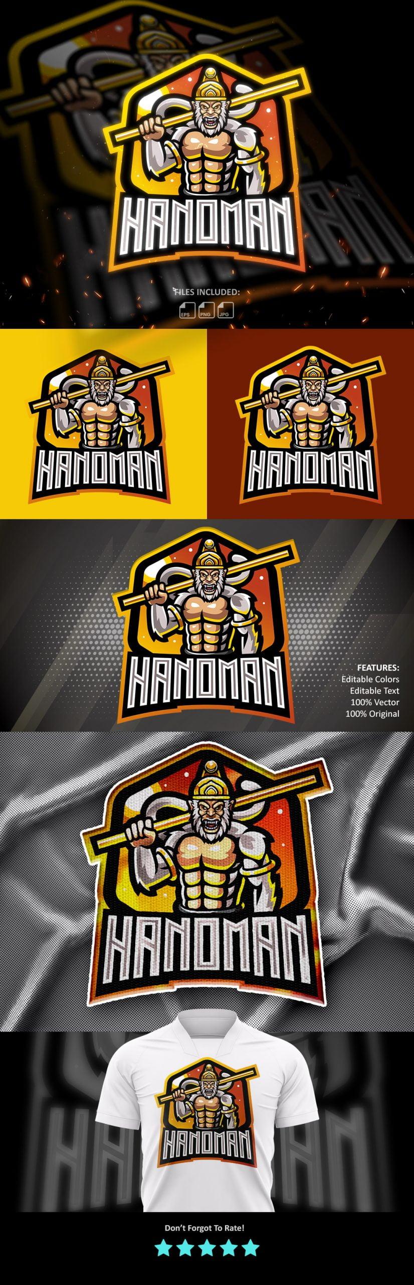Free-Hanoman-Mascot-Logo-Download