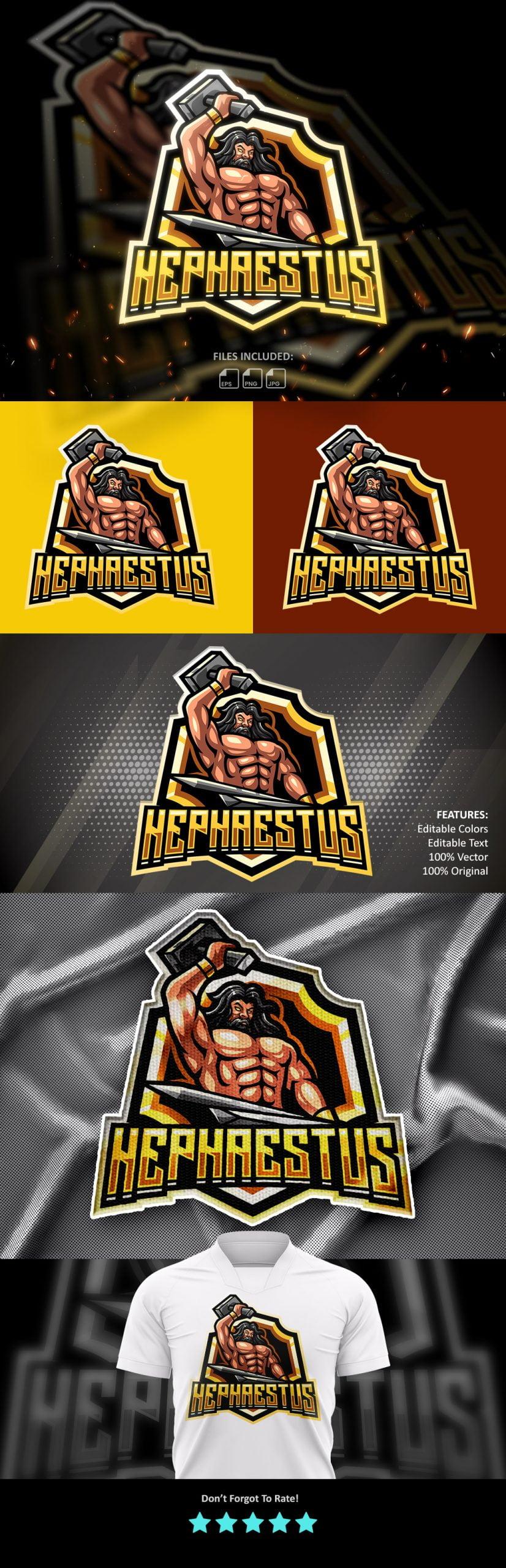 Free-Hephaestus-Mascot-Logo-Download