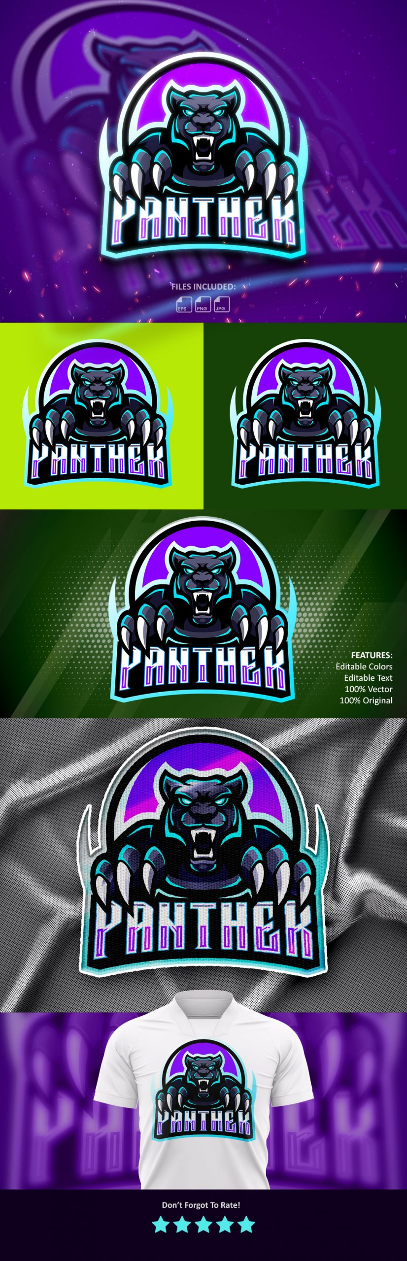 Free-Panther-Esports-Mascot-Logo-Download