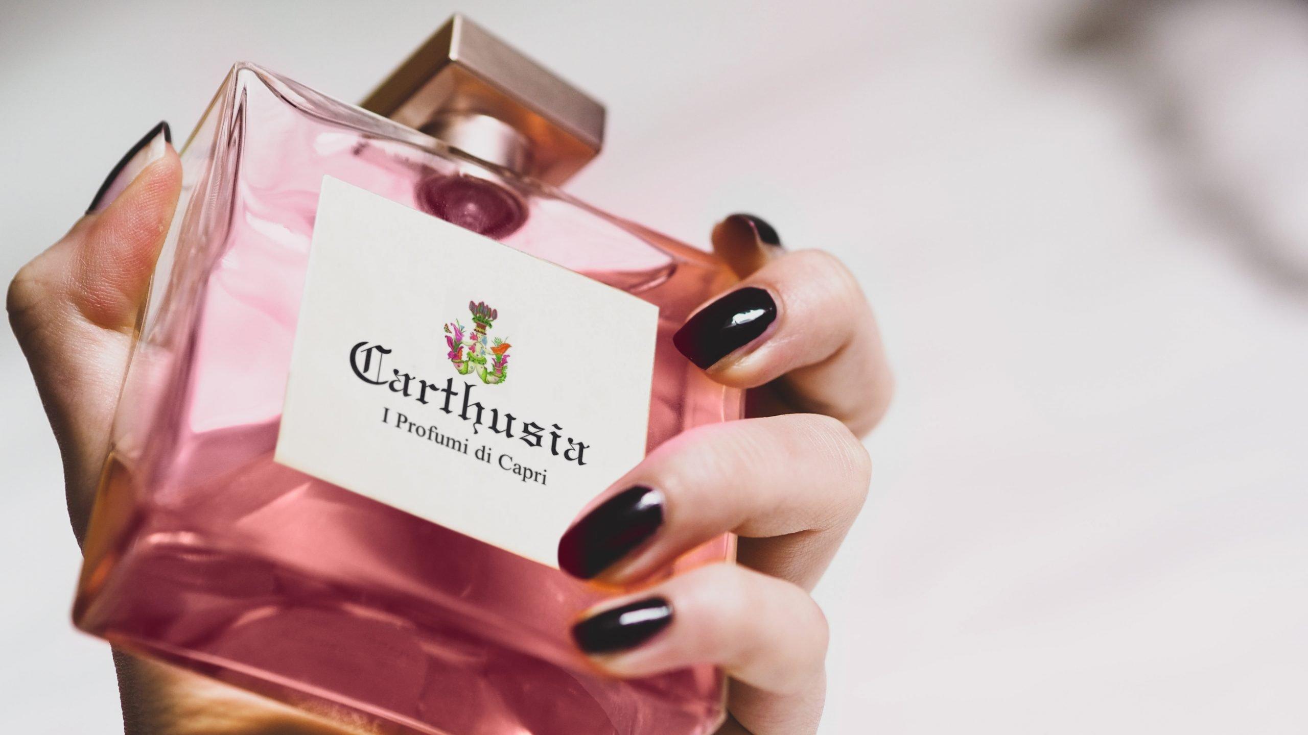 Free Perfume Bottle Mockup Design