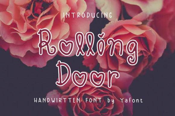 Free Rolling Door Font Download