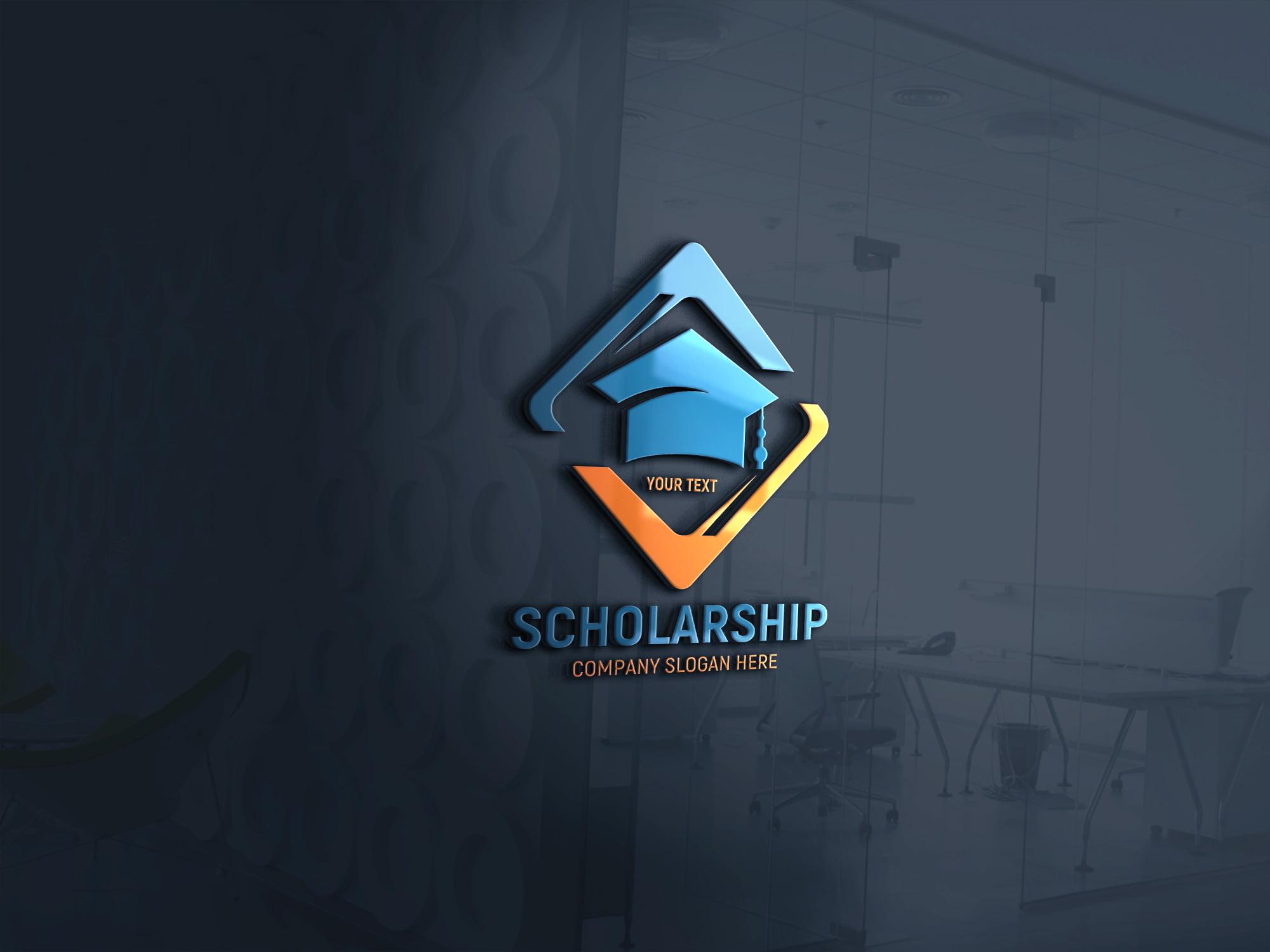 Free Scholarship Logo Template Design Download