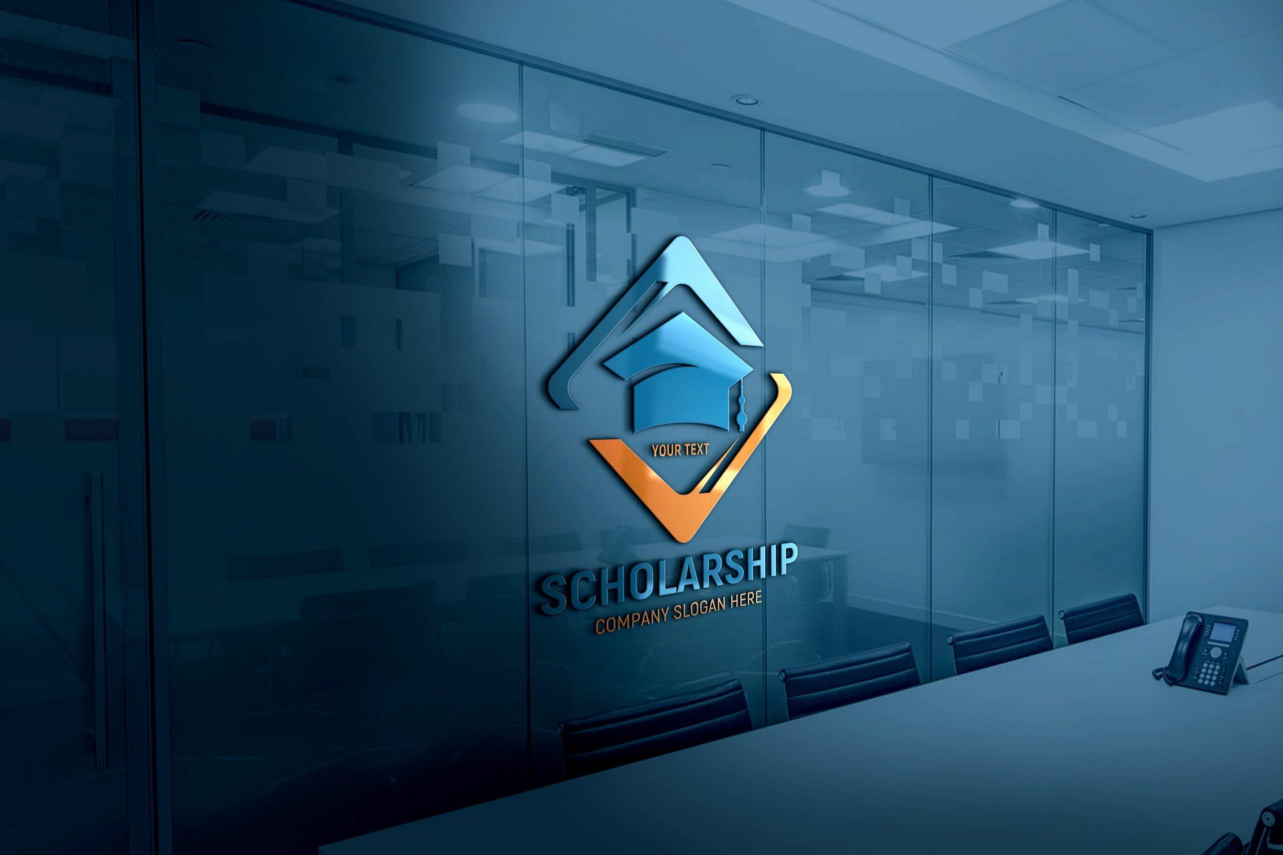 Free Scholarship Logo Template Design