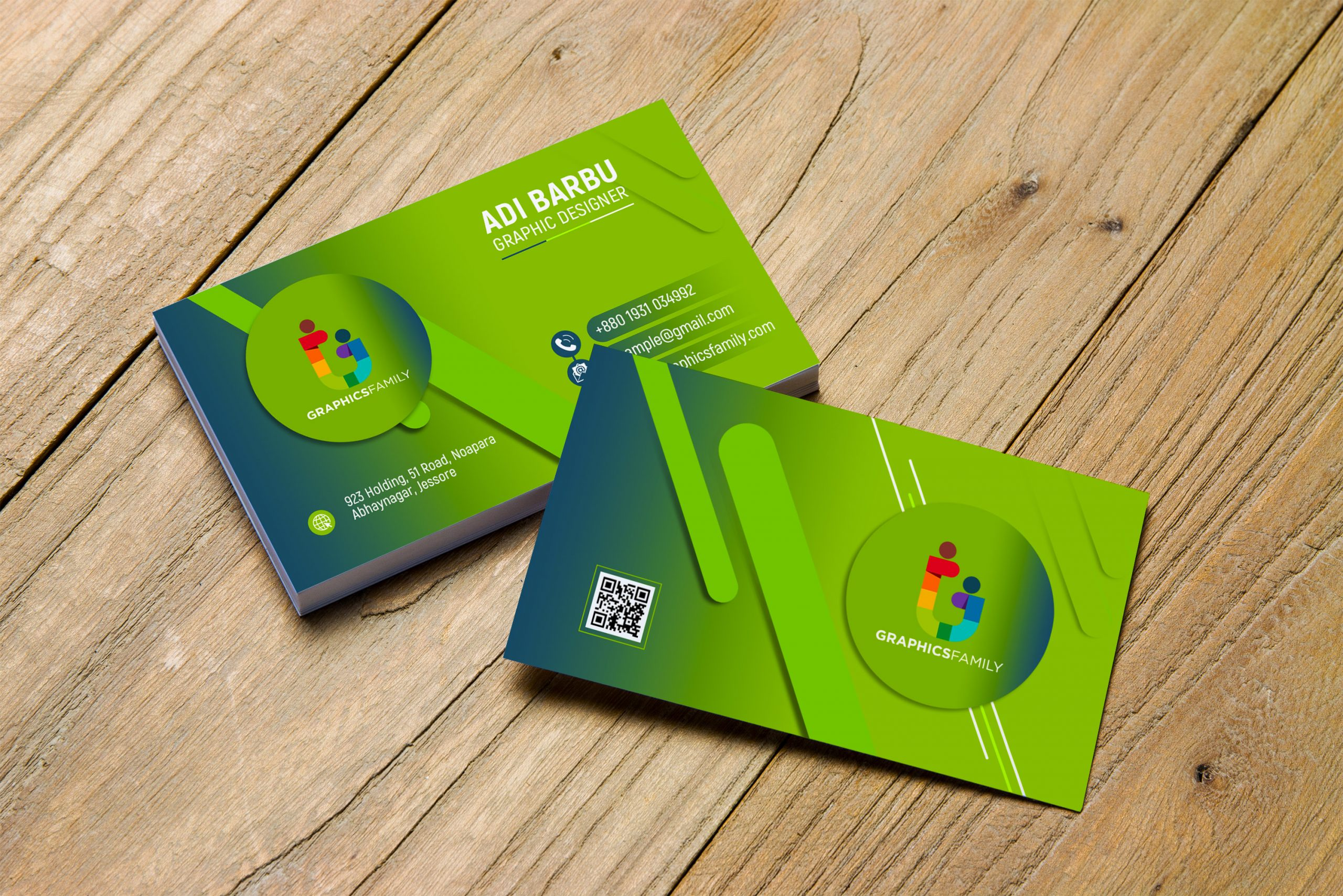 Free Simple Green Business Card Design Download