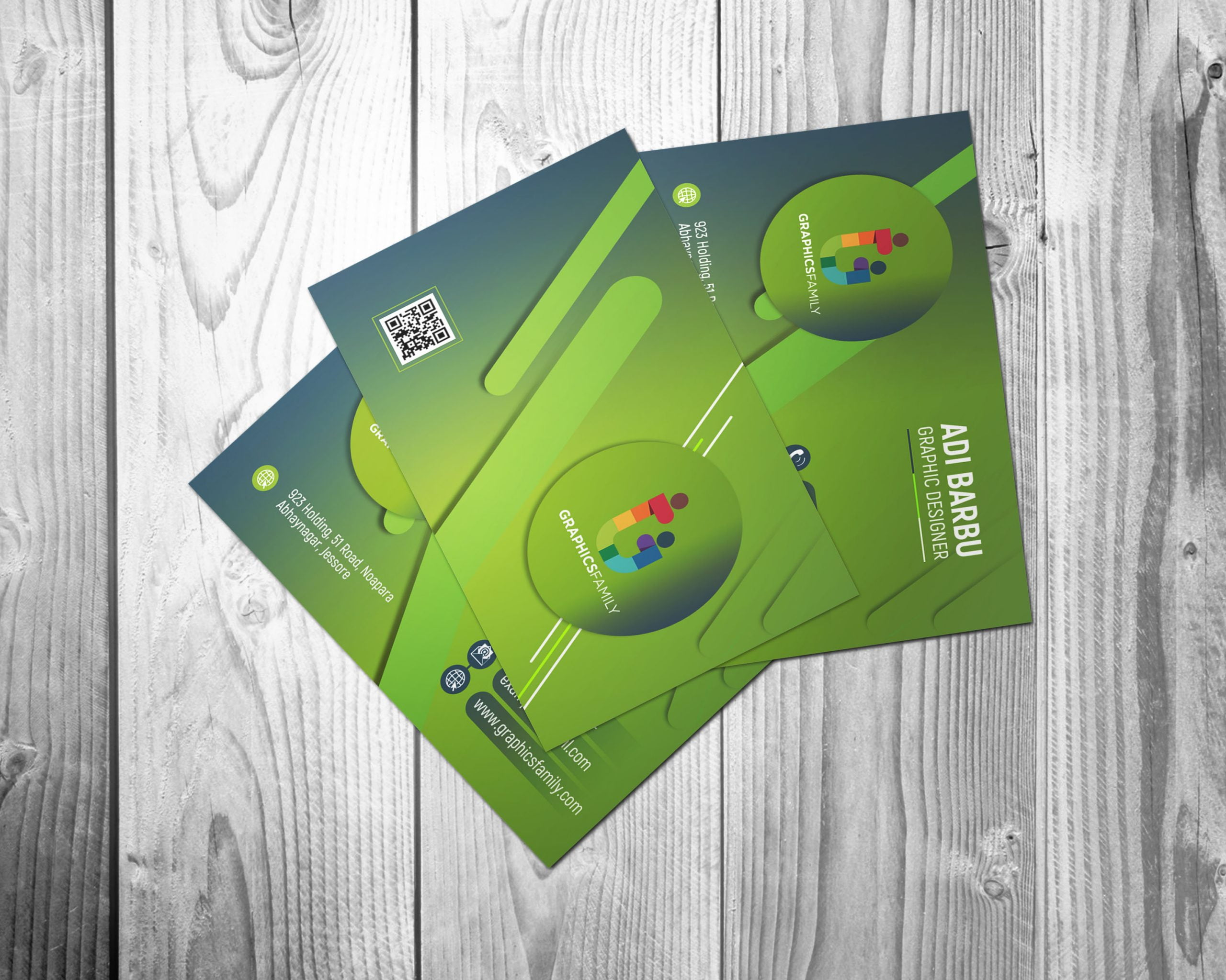 Free Simple Green Business Card Design