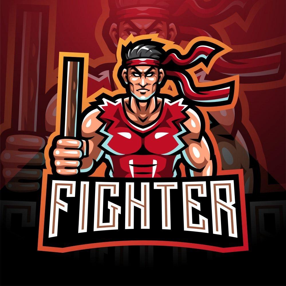 Free Street Fighter Mascot Logo Template
