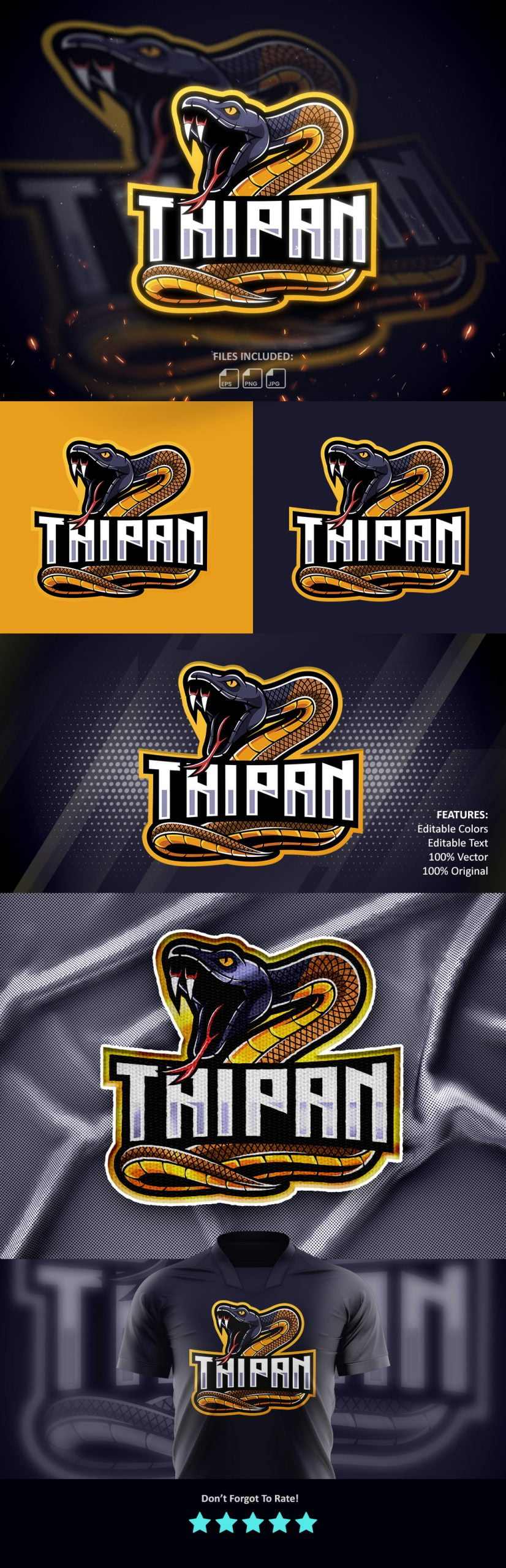 Free-Taipan-Mascot-Logo-Download