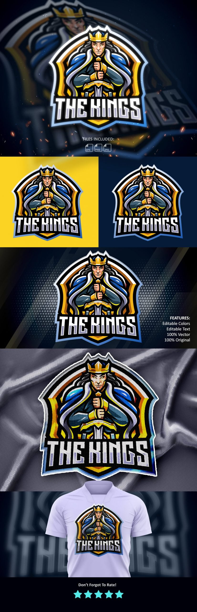Free-The-Kings-Mascot-Logo-Download