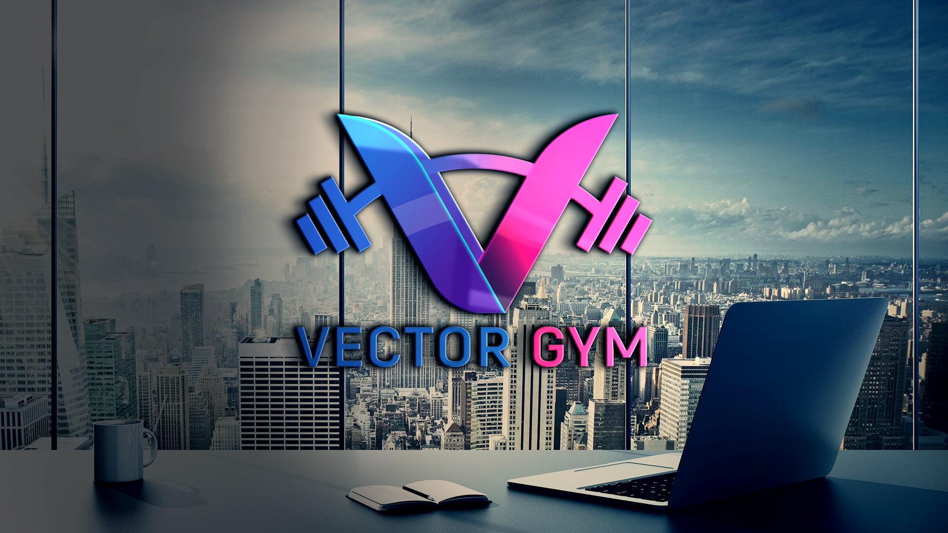 Free Vector Gym Logo PSD Template