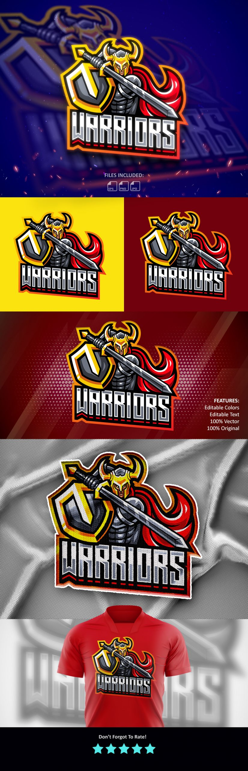 Free Warriors Clan Mascot Logo Download