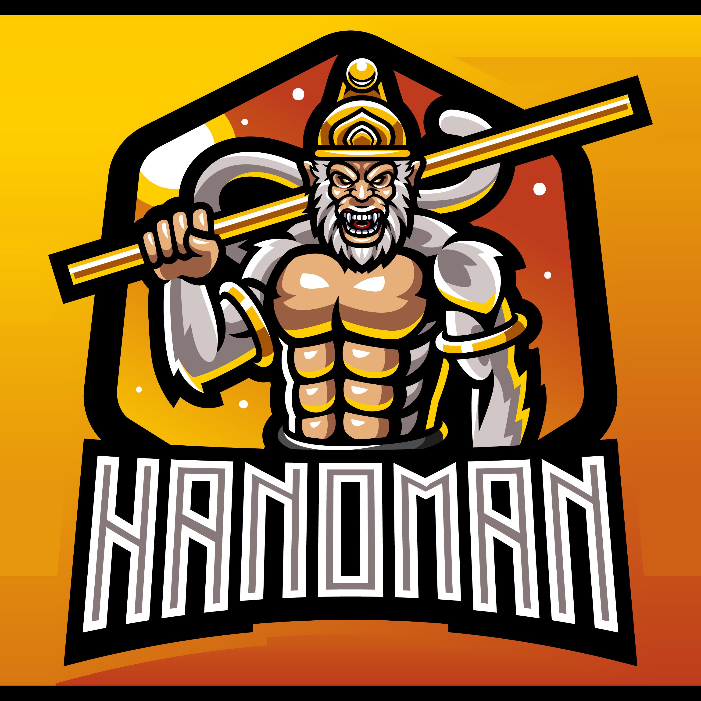Hanoman-Mascot-Logo-PNG-Transparent