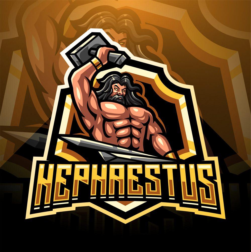 Hephaestus Mascot Logo