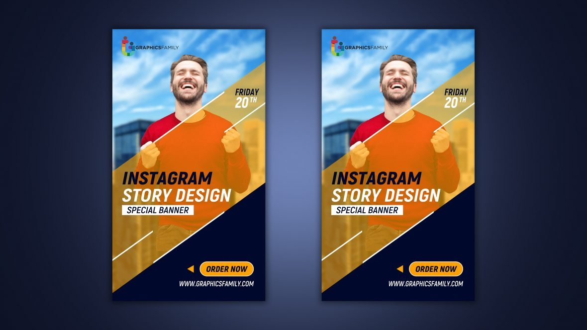 Instagram success stories template design