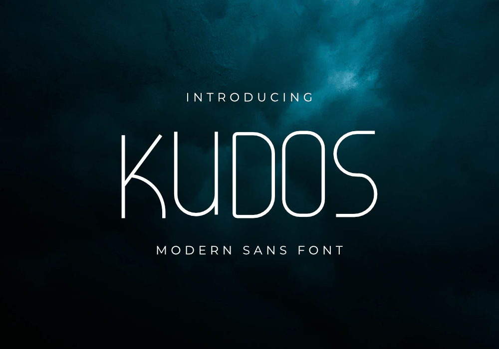 Kudos-Fine Font by GraphicsFamily