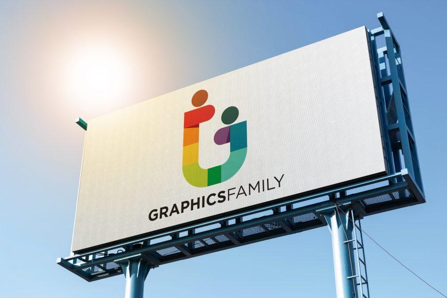 Logo Mockup on Big Billboard