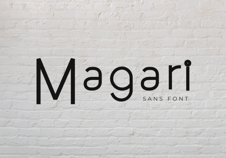 Magari Font Family by GraphicsFamily