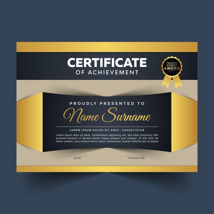 Modern Editable Landscape Certificate Template