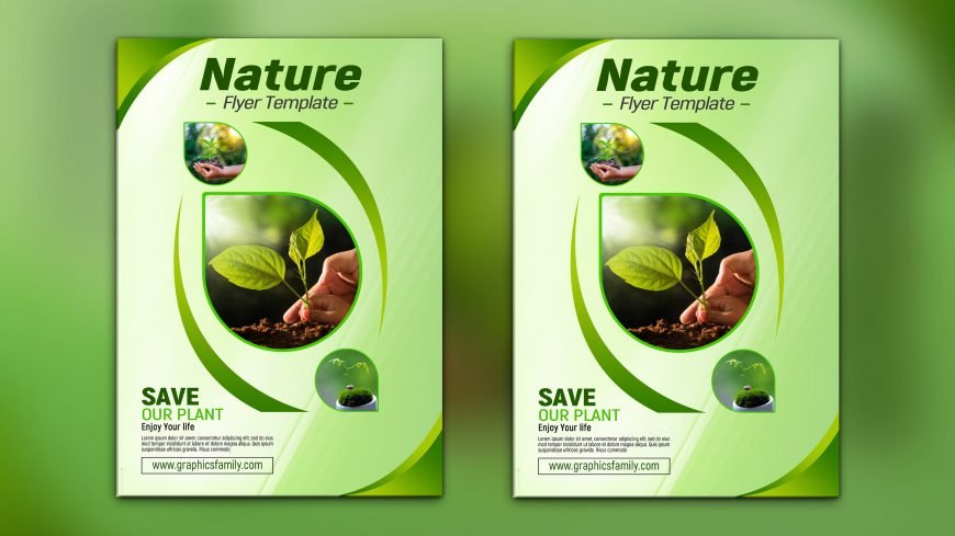 Nature Flyer Template Design
