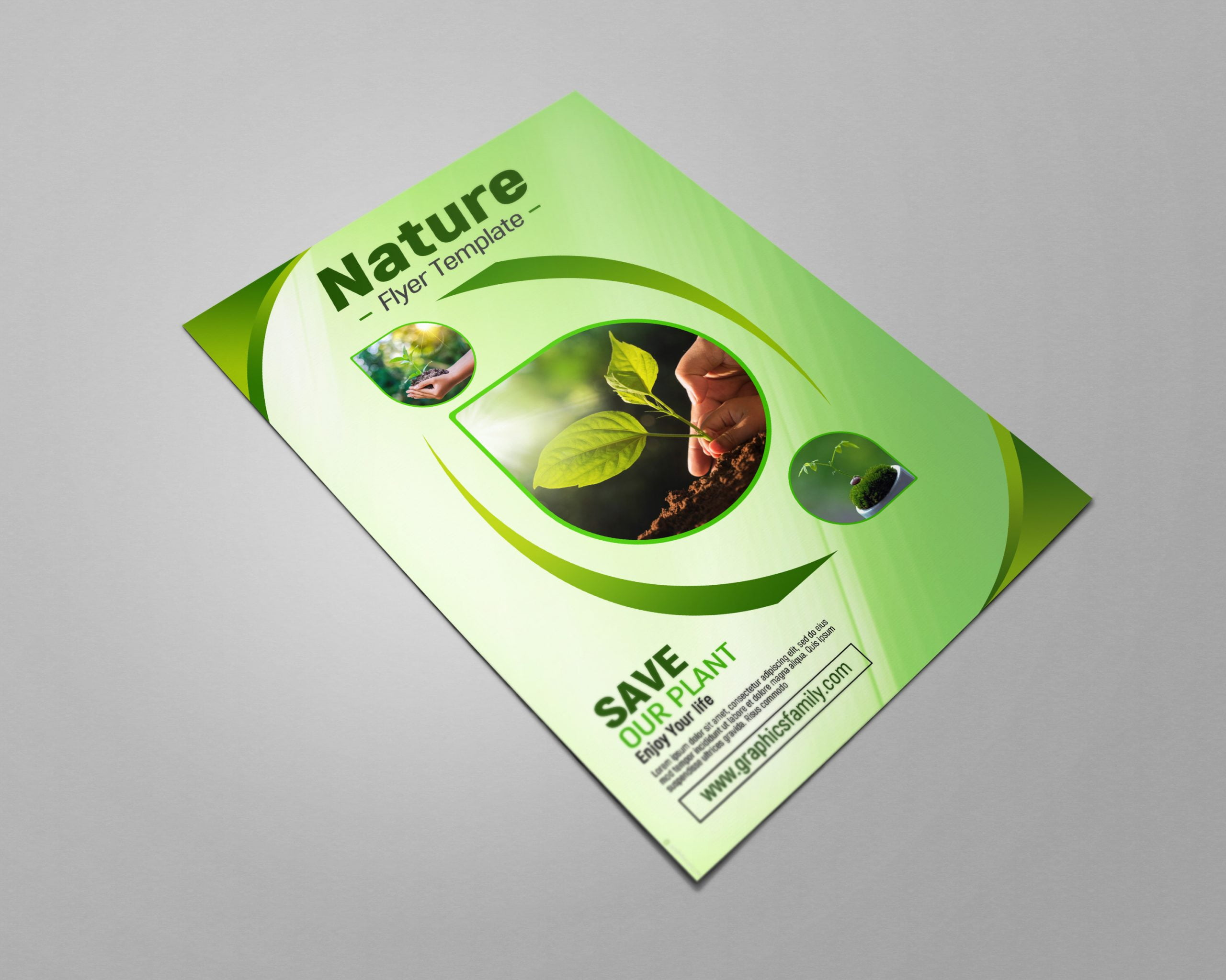 Nature Flyer Template Design Download