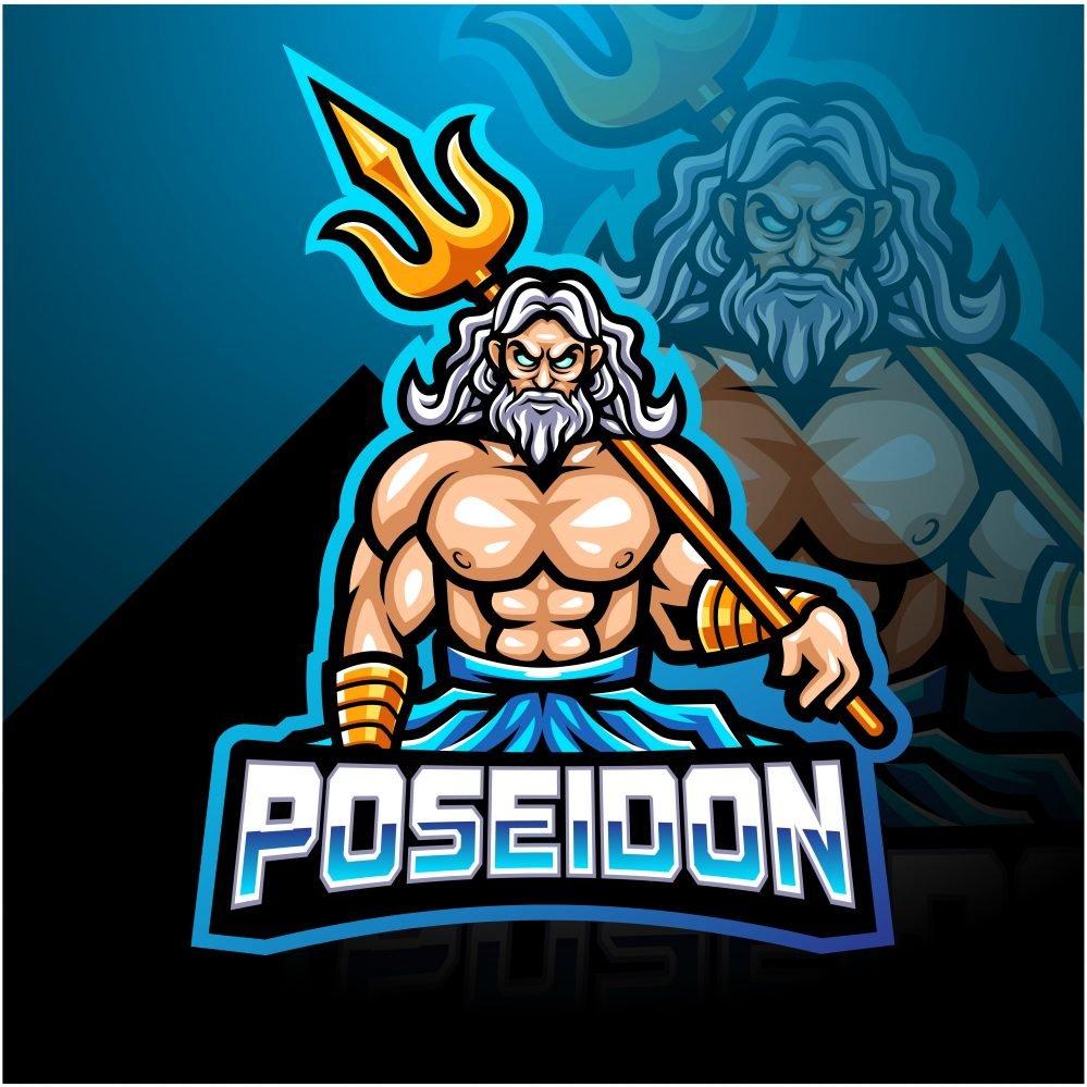 Poseidon Legend Mascot Logo