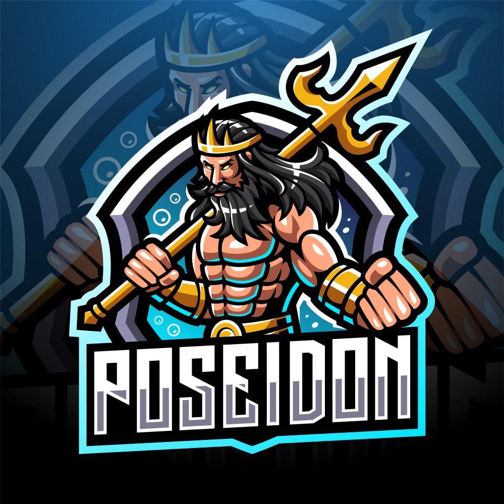 Poseidon Mascot Logo