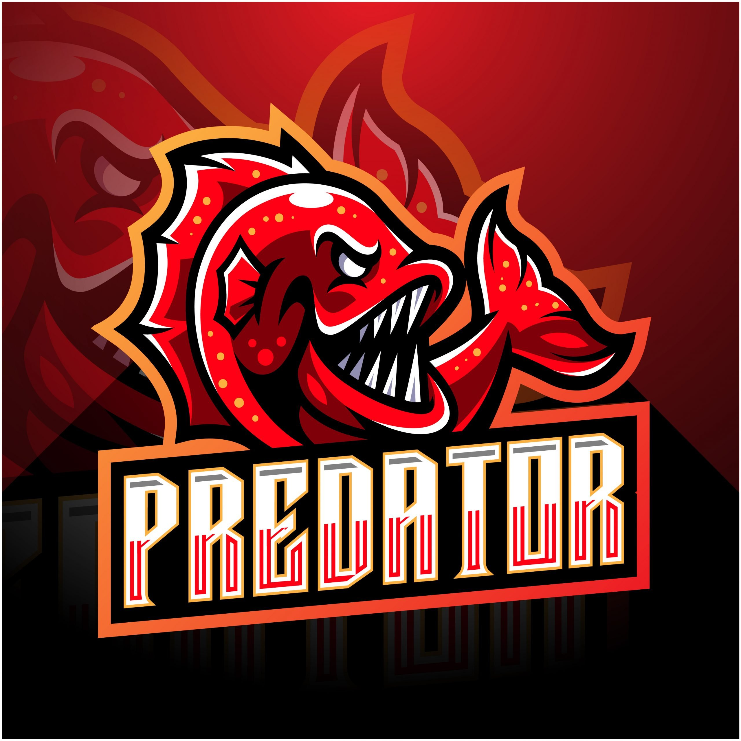 Predator Mascot Logo Template GraphicsFamily