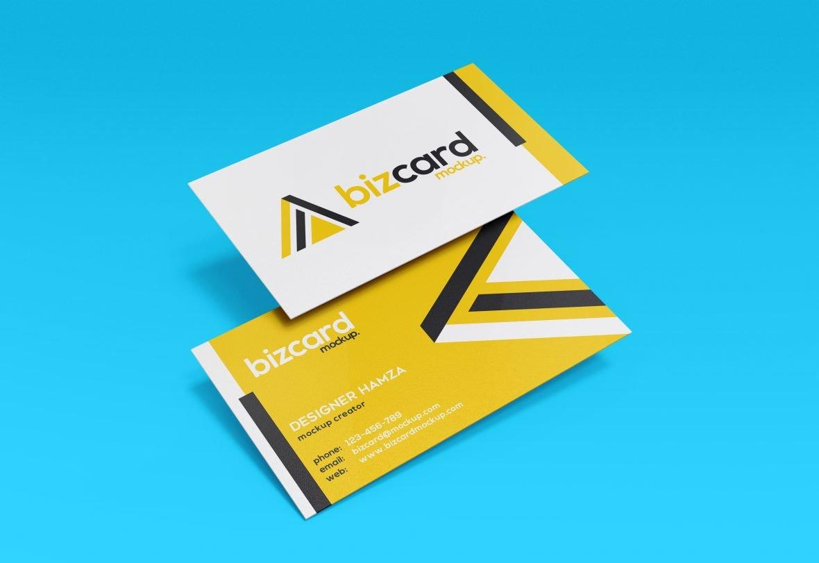 Premium Business Card Mockup Free PSD