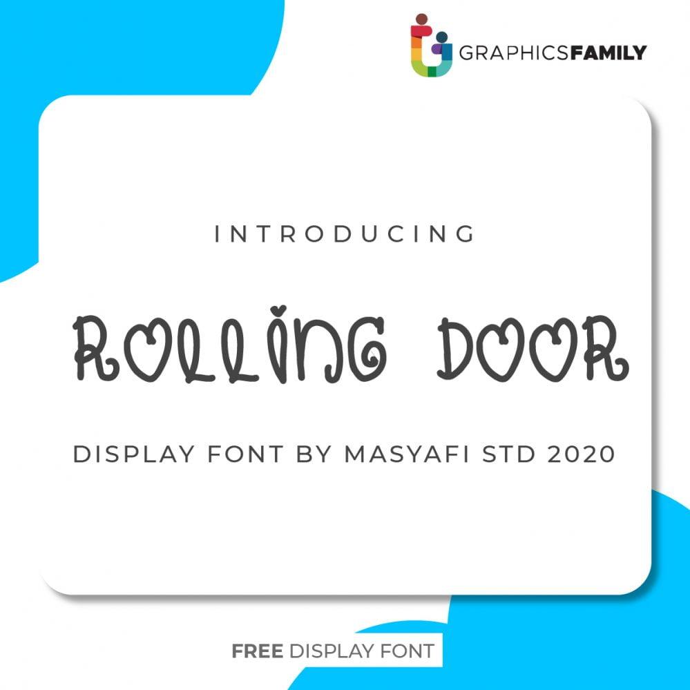 Rolling-door Font